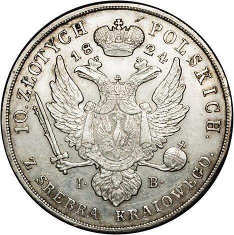 купить 10 злотых 1824 года IB
