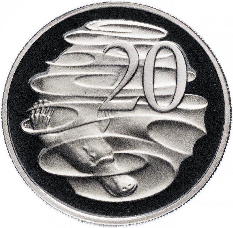 купить Австралия 20 центов 1989 Proof