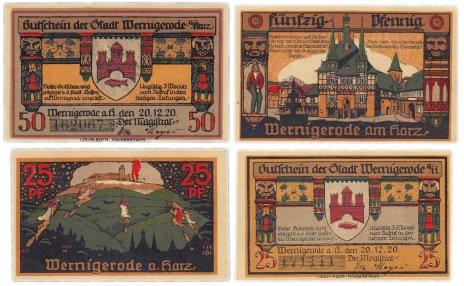 купить Германия (Саксония: Вернигероде) набор из 2-х нотгельдов 1921
