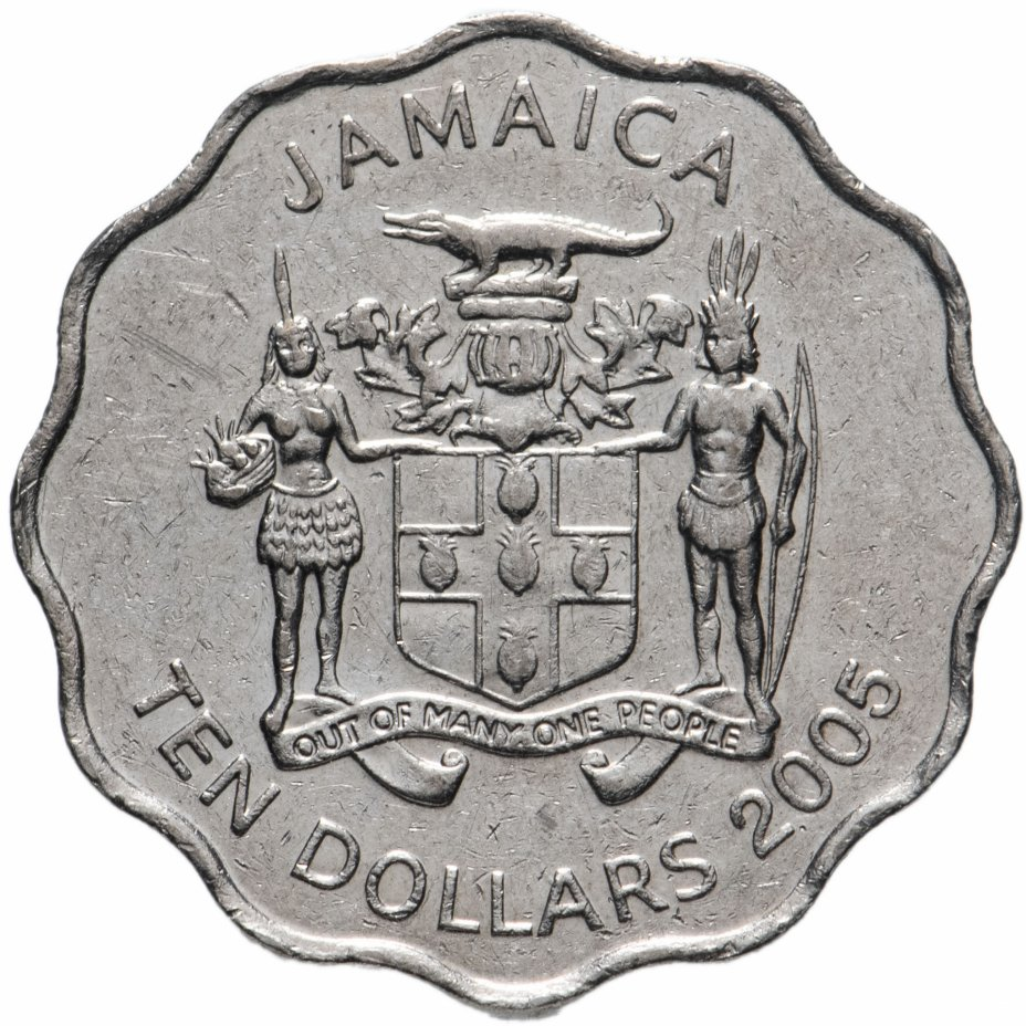 купить Ямайка 10 долларов 1999-2005, случайная дата