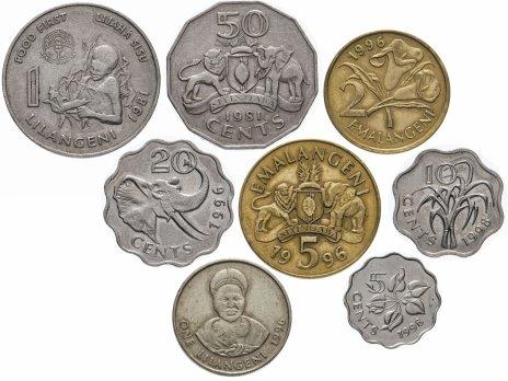 купить Свазиленд набор монет 1981-1998 (8 штук)