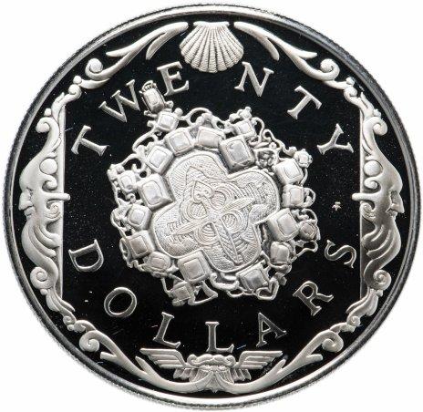 """купить Британские Виргинские острова 20 долларов (dollars) 1985 """"Сокровища затонувших кораблей"""""""