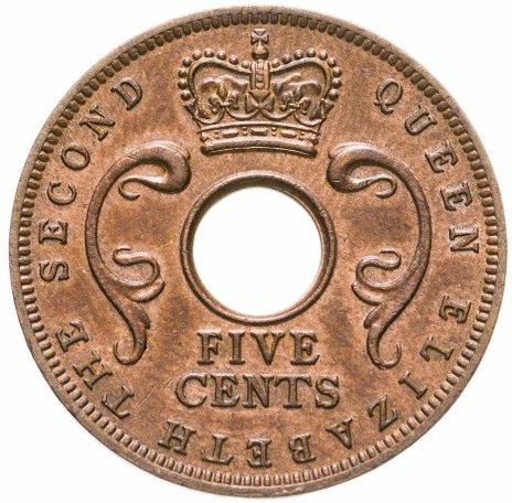 купить Британская Восточная Африка 5 центов 1963