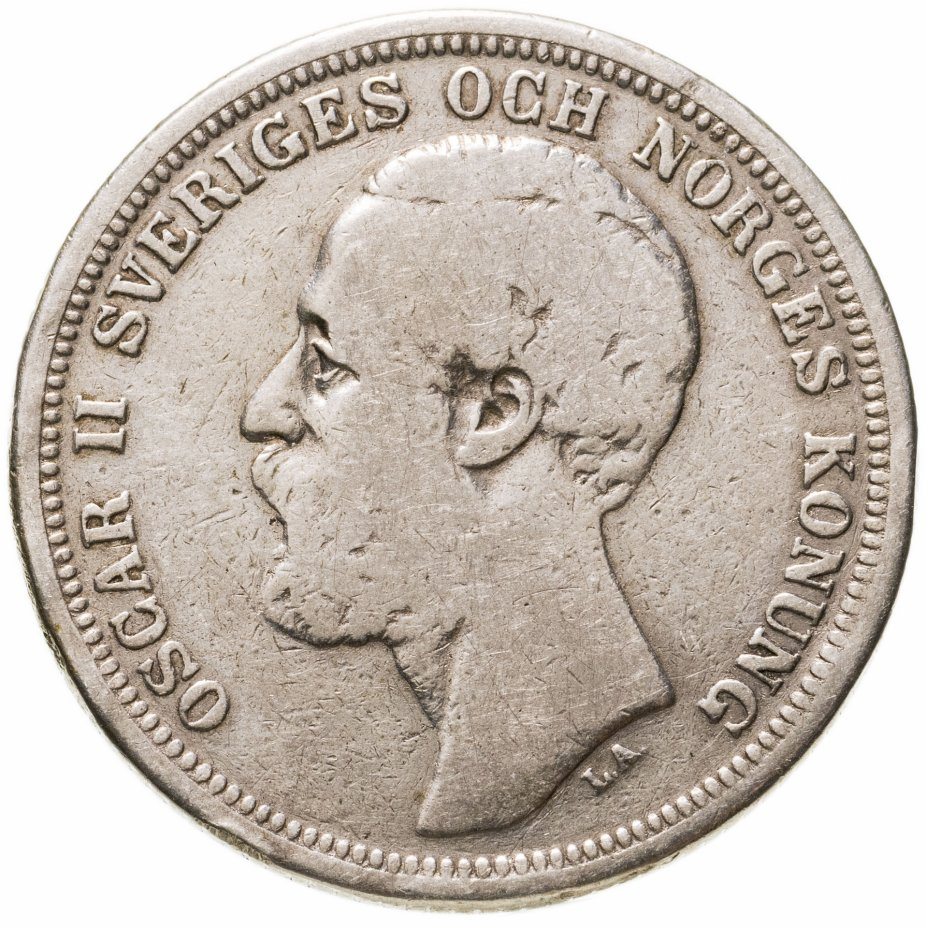купить Швеция 2кроны (kronor) 1880