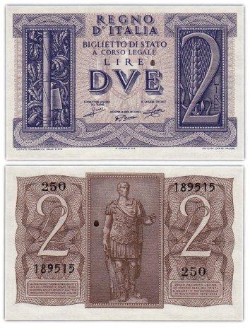 купить Италия 2 лиры 1939 (Pick 27)