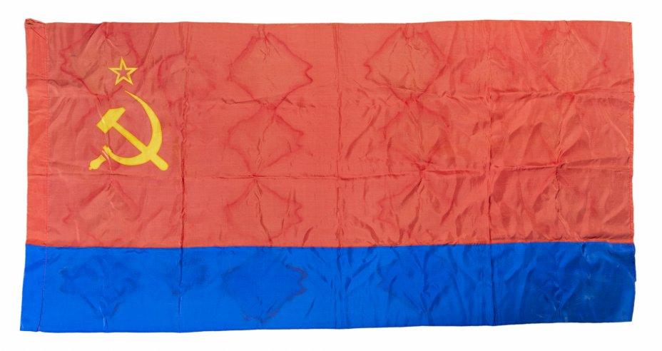купить Флаг Азербайджанской ССР, смесовая ткань, СССР, 1953-1992 гг.