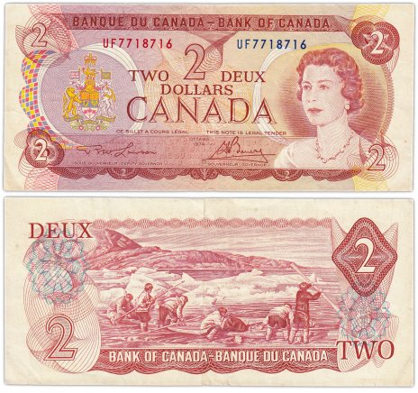 купить Канада 2 доллара 1974 (Pick 86a)