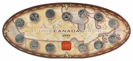 """купить Канада набор монет 25 центов 1999 """"12 месяцев"""""""