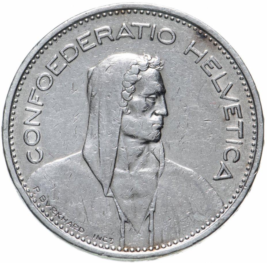 купить Швейцария 5 франков (francs) 1937