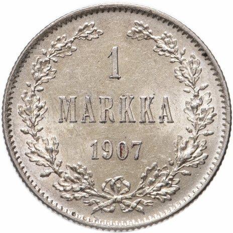 купить 1 марка 1907 L, монета для Финляндии