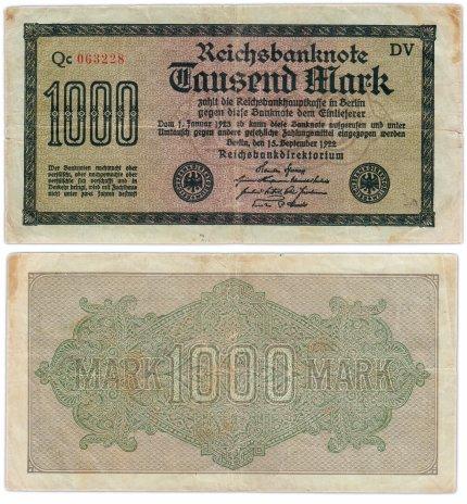 купить Германия 1000 марок 1922 Pick 76b(1)