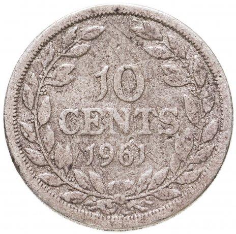 купить Либерия 10 центов (cents) 1961