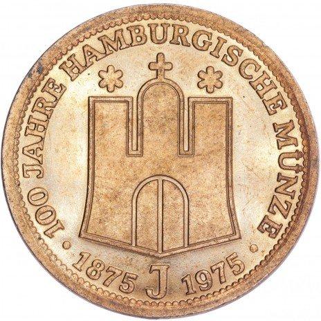 """купить Германия жетон """"100 лет Гамбург Монетный двор"""" 1975"""