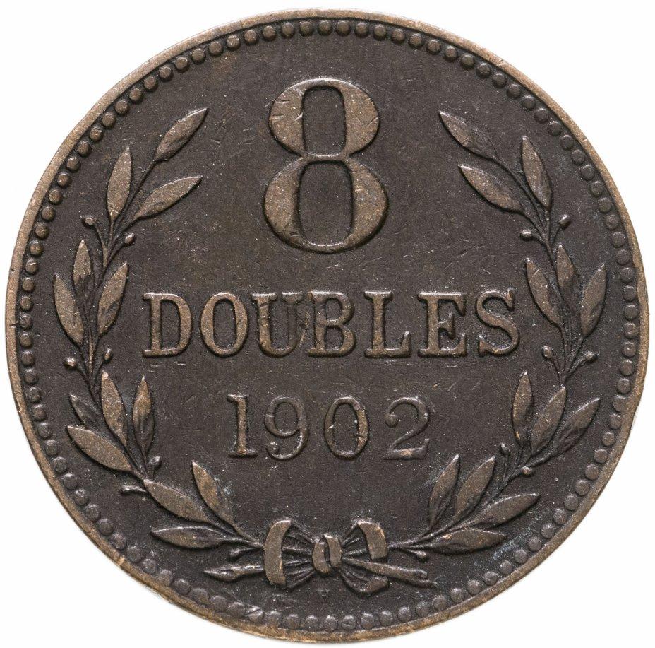 купить Гернси 8 дублей (doubles) 1902