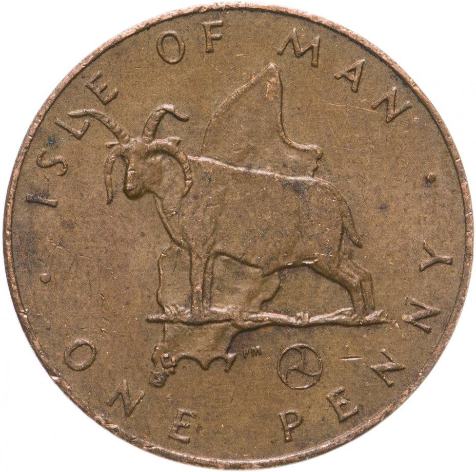 купить Остров Мэн 1 пенни (penny) 1976-1979, случайная дата
