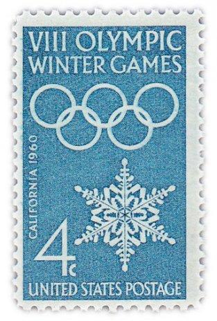 """купить США 4 цента 1960 """"Восьмые зимние олимпийские игры"""""""