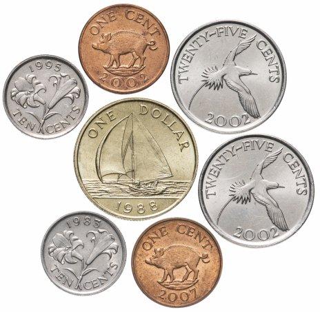 купить Бермудские острова набор из 7 монет 1983-2007