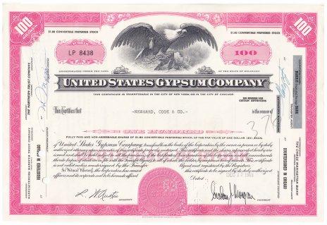 купить Акция США United States Gypsum Company 1968-1969 г.