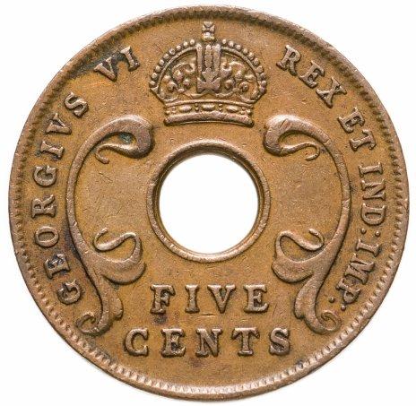 купить Британская Восточная Африка 5 центов 1943