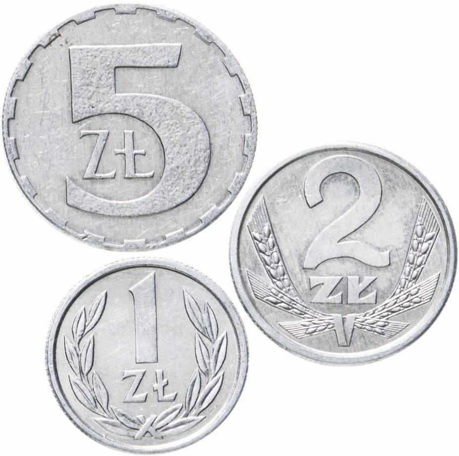 купить Польша, набор из 3 монет 1989