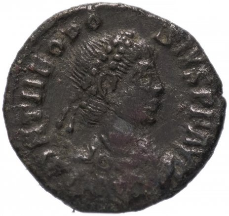 купить Римская Империя Феодосий I 379-395 гг 4 денария (реверс: легенда обрамлена венком)