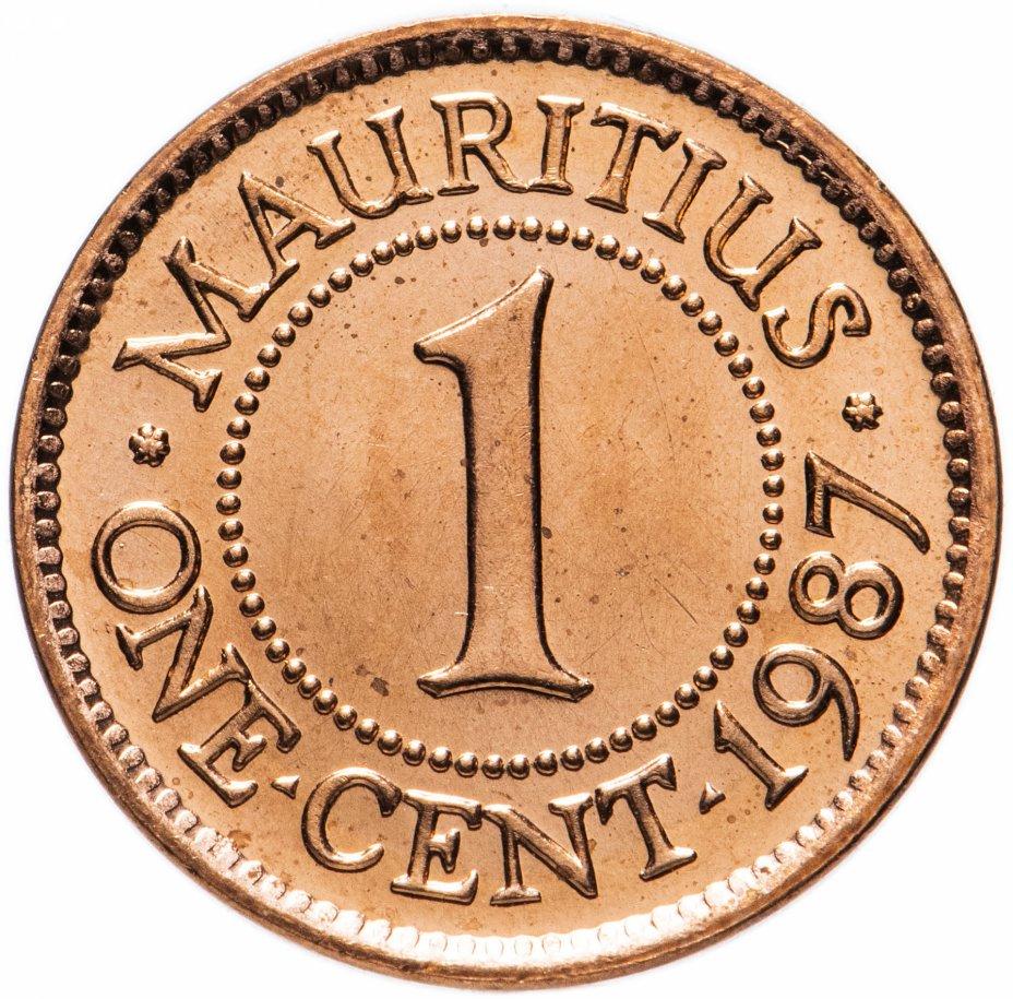 купить Маврикий 1 цент (cent) 1987