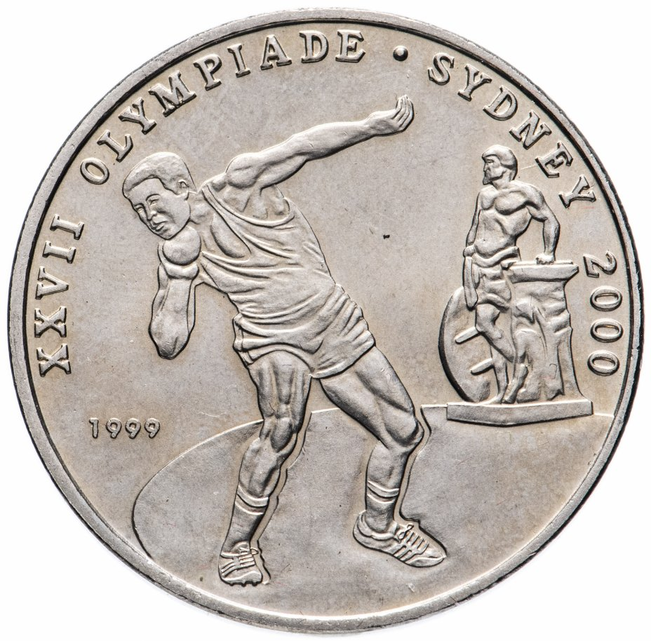 """купить Республика Конго """"100 франков (francs) 1999 XXVII Летние Олимпийские игры, Сидней 2000"""""""