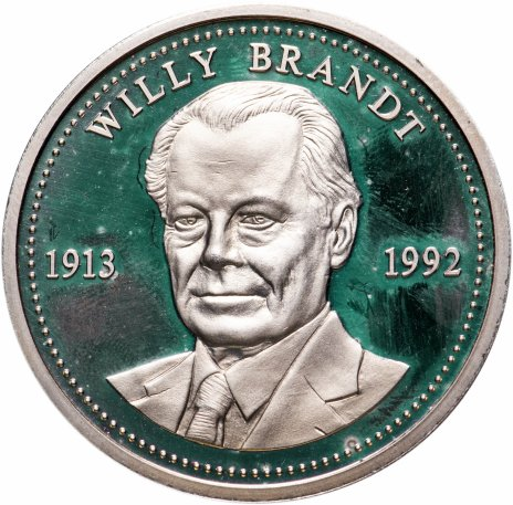 """купить Медаль, Германия """"Вилли Брандт 1913-1992"""" 1992"""