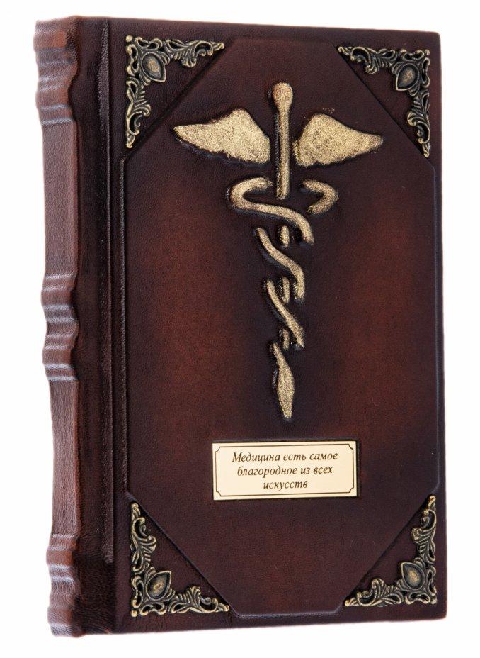 купить Ежедневник недатированный с символом медицины, подарочное издание, кожаный переплет, латунь, кожа, бумага, авторская ручная работа, Россия, 2021 г.