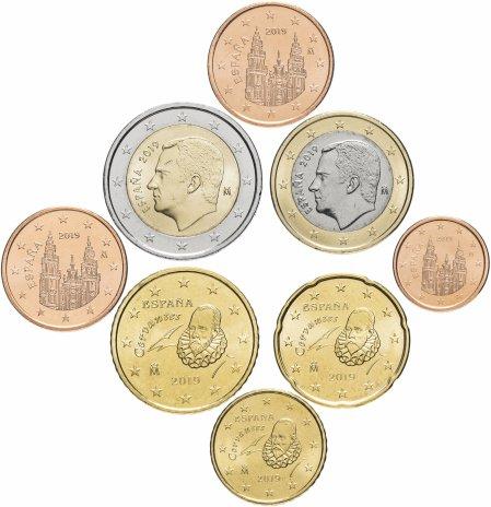 купить Испания набор монет евро 2019 (8 шт)