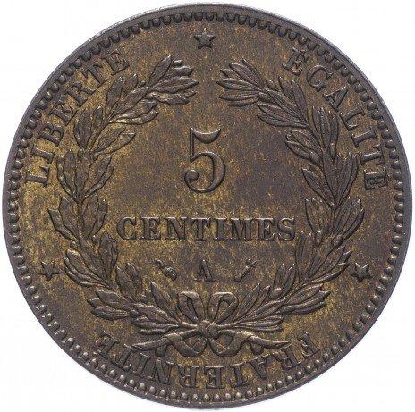 купить Франция 5 сантимов 1881 A
