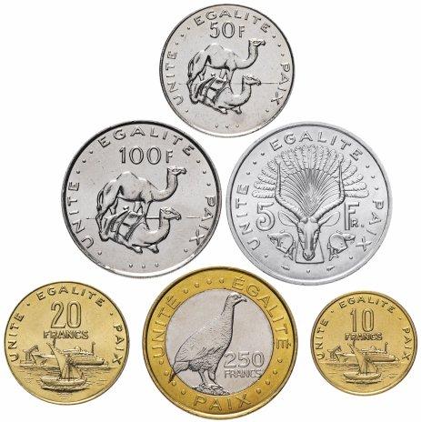 купить Джибути набор монет 1991-2013 (6 штук, UNC) Животные