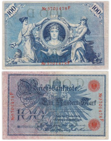 купить Германия 100 марок 1908 (Pick 33)