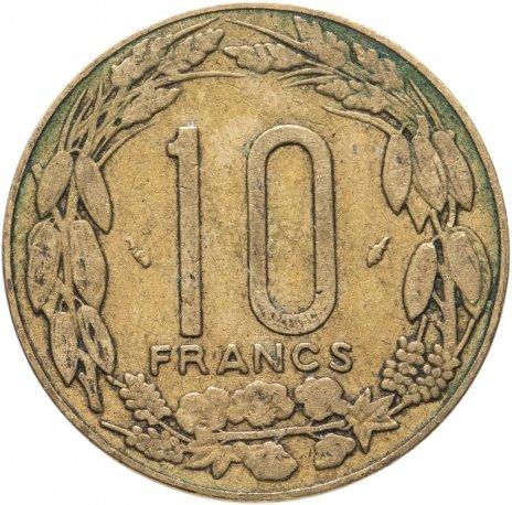 купить Центральная Африка (BEAC) 10 франков (francs) 1974-2003, случайная дата