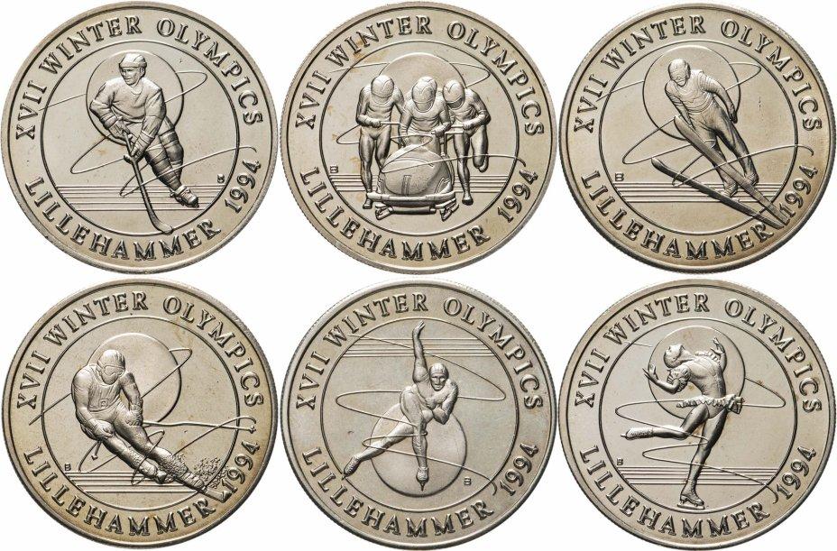 купить Тёркс и Кайкос набор 5 крон (crowns) 1993 Олимпийские игры Лиллехаммер Олимпиада 1994
