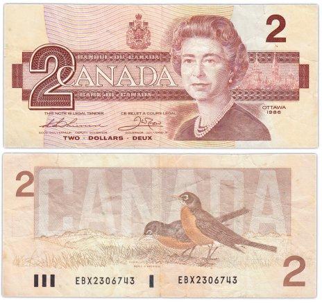 купить Канада 2 доллара 1986 (Pick 94b)