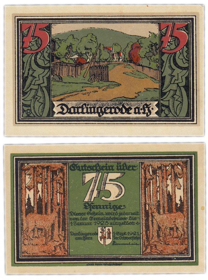 купить Германия (Саксония: Дарлингероде) 75 пфеннигов 1921 (258.1/B1)