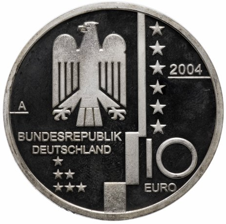 """купить Германия 10 евро 2004 """"Баухауз в Дессау"""""""