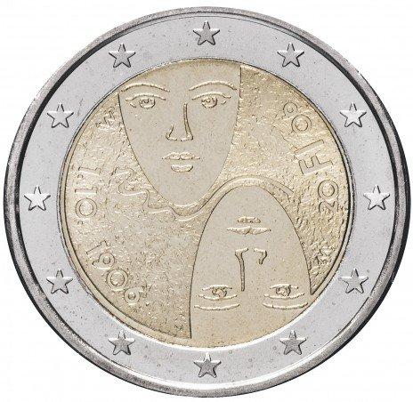 """купить Финляндия 2 евро 2006 """"100-летие введения в Финляндии универсального и равного избирательного права"""""""