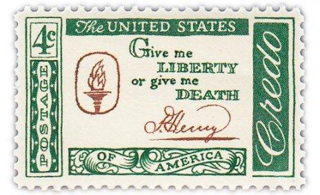 """купить США 4 цента 1961 """"Цитата Патрика Генри"""""""