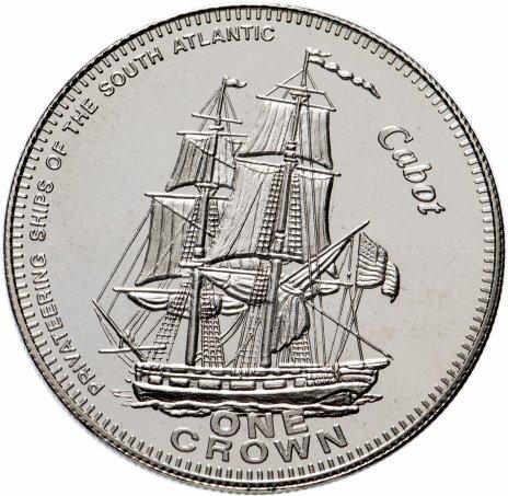 """купить Тристан-да-кунья 1 крона 2006 """"Каперские корабли Южной Атлантики"""""""