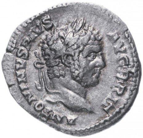 купить Римская Империя Каракалла 211–217 гг денарий (реверс: Салюс сидит, кормит змею)