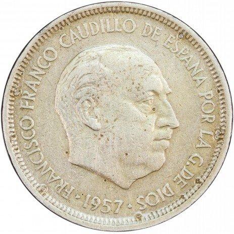 купить Испания 5 песет 1957