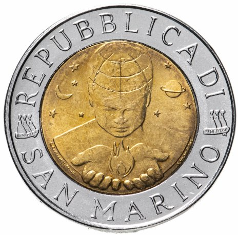 """купить Сан-Марино 500 лир 1999 """"Исследование космоса"""""""