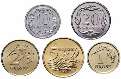 купить Польша набор монет 2010-2014 (5 штук)