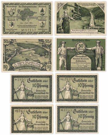 купить Германия (Тюрингия: Обервайсбах) набор из 6 нотгельдов 1921