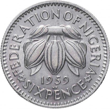 купить Нигерия 6 пенсов 1959