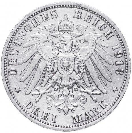 """купить Германия (Саксония) 3 марки 1913 """"100-летие битвы при Лейпциге"""""""