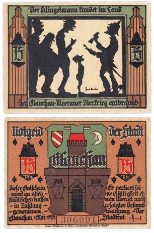 """купить Германия (Саксония: Глаухау) 75 пфеннигов 1921 """"Богатство и бедность"""" (436.2/B1/1)"""