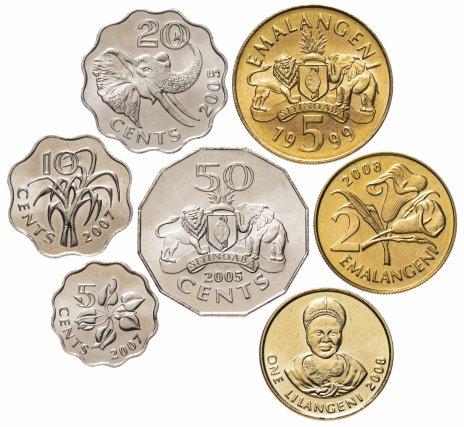 купить Свазиленд набор монет 1999-2011 (7 штук)